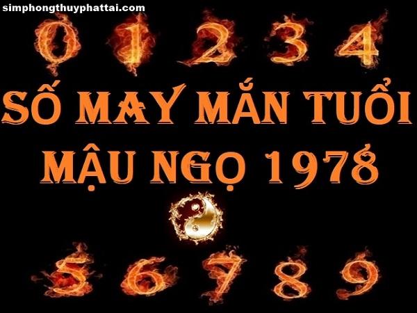 xem ngay cách tính con số may mắn tuổi Mậu Ngọ 1978
